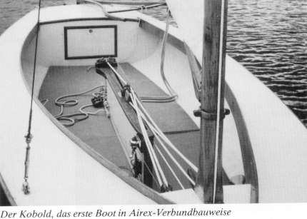 AUGUST 1955 DIE ERSTEN KUNSTSTOFFBOOTE