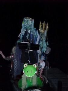 Bootstaufe mit Poseidon und Frösch
